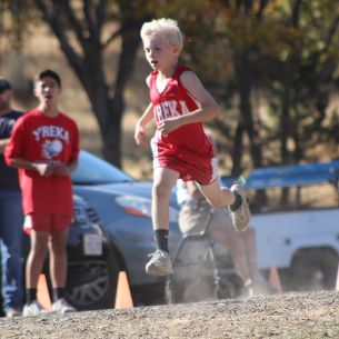 Cross County picture of student running